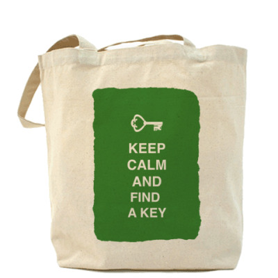 Сумка Keep calm and find a key