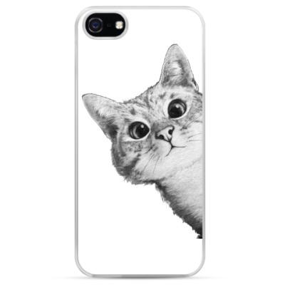 Чехол для iPhone Любопытный котик