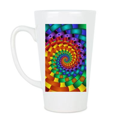 Чашка Латте Радужный вихрь