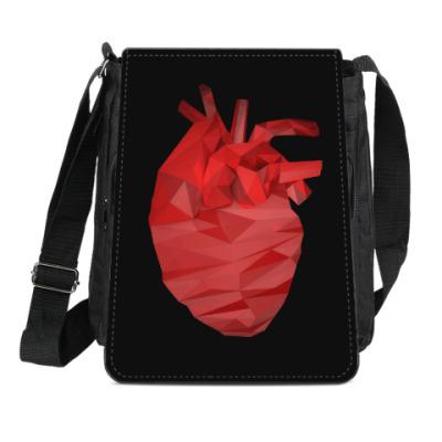 Сумка-планшет Сердце 3D