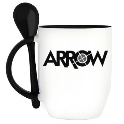 Кружка с ложкой Arrow