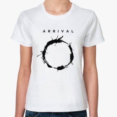 Классическая футболка Прибытие. Язык гептаподов (Heptapod language)