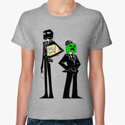 Женская футболка Enderman & Creeper . Minecraft
