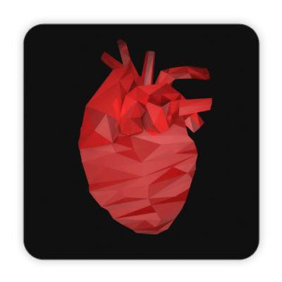 Костер (подставка под кружку) Сердце 3D