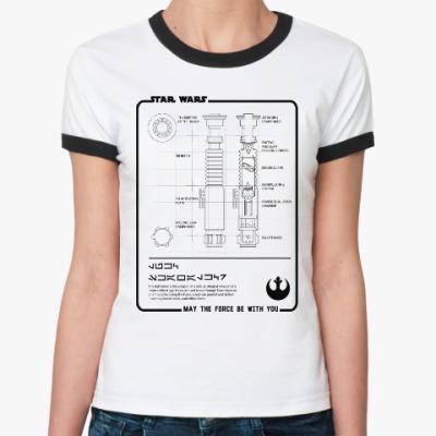 Женская футболка Ringer-T Star wars (звёздные войны)