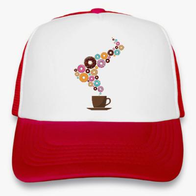 Кепка-тракер Кофе с пончиками