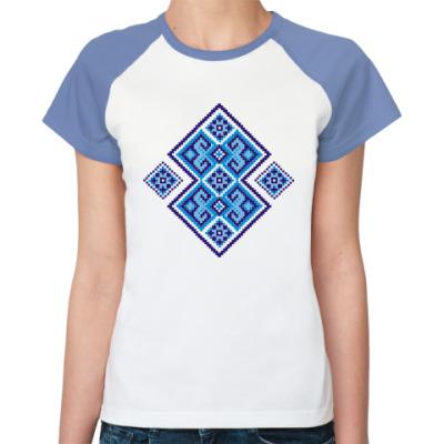 Женская футболка реглан Украинский орнамент