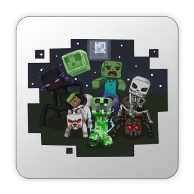 Костер (подставка под кружку) Minecraft