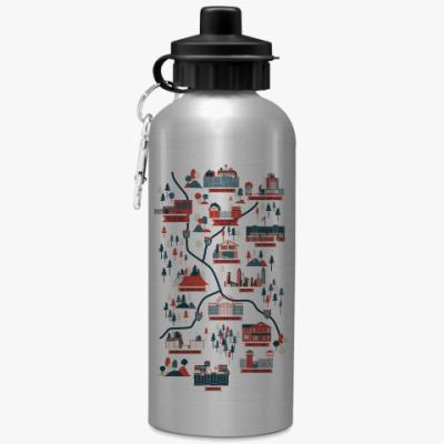 Спортивная бутылка/фляжка Карта сериала Ходячие мертвецы