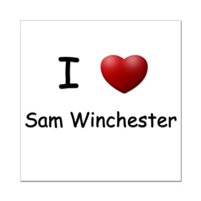 Наклейка (стикер)  I Love Sam