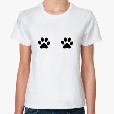 Классическая футболка  'Лапки'