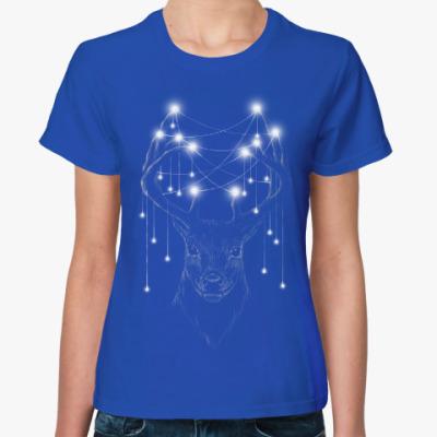 Женская футболка Новогодний олень X-mas Deer