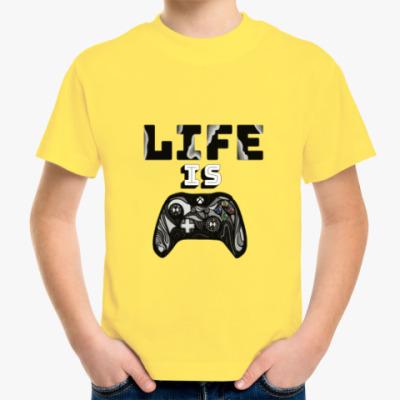 Детская футболка Life is a game