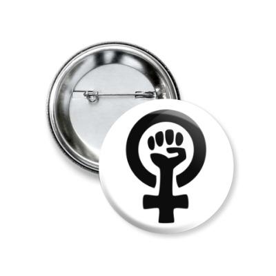 Значок 37мм Феминизм