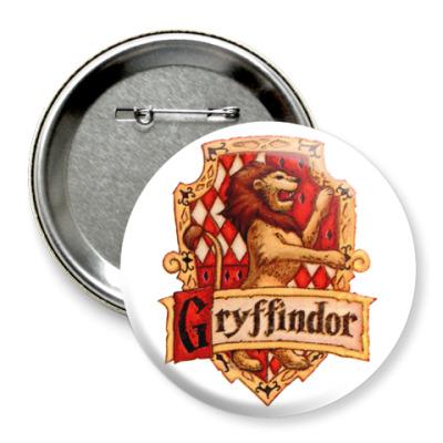 Значок 75мм Gryffindor