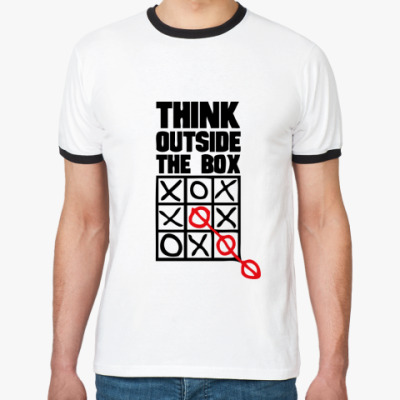 Футболка Ringer-T  Think Outside The Box