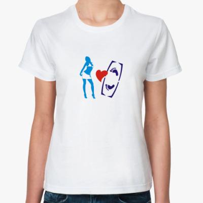 Классическая футболка  ILOVE