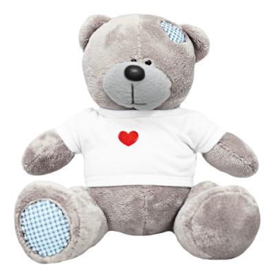 Плюшевый мишка Тедди Стеклянное сердце