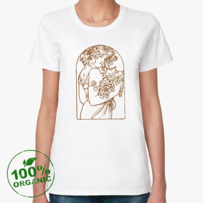 Женская футболка из органик-хлопка Alfons Mucha