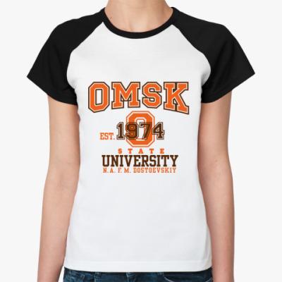 Женская футболка реглан ОмГУ