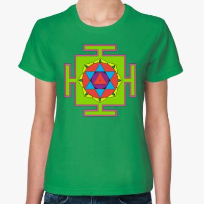 Женская футболка Маха-мритьюнджайа-янтра
