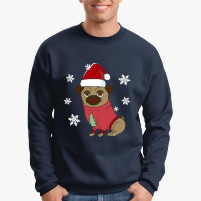 Свитшот Новогодняя собака в свитере