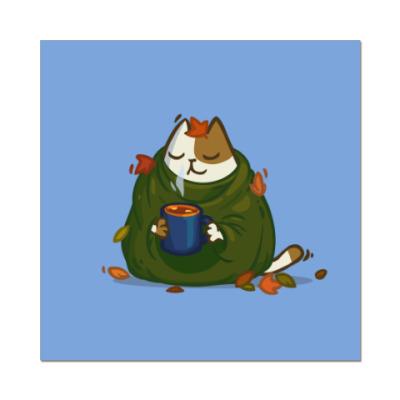 Наклейка (стикер) Пятничный Котик №23