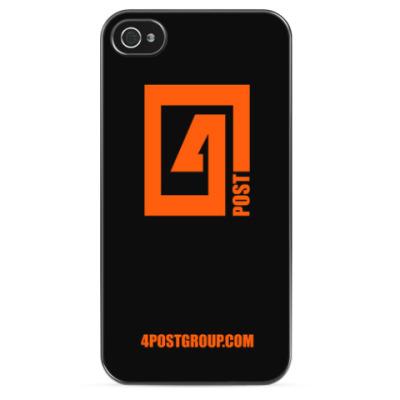 Чехол для iPhone 4POST LOGO Чехол для iPhone 4/4s (черный)