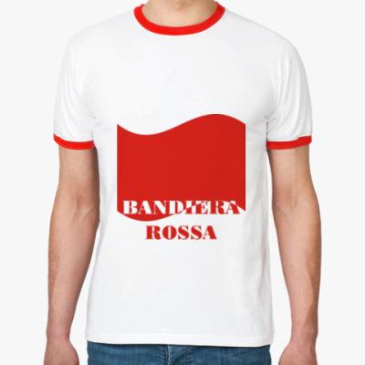 Футболка Ringer-T Красное знамя