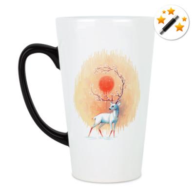 Кружка-хамелеон Дух весны белый олень