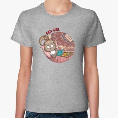 Женская футболка Bed Girl