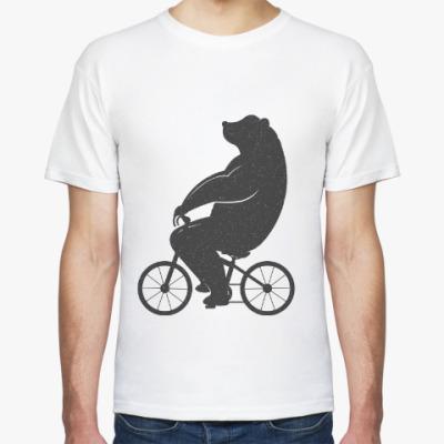 Футболка Медведь на велосипеде