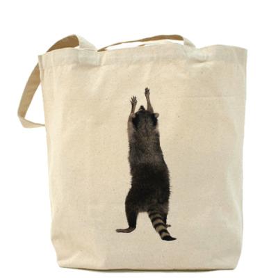 Сумка Холщовая сумка Енот