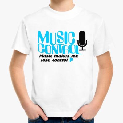 Детская футболка Music control