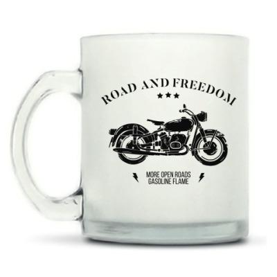 Кружка матовая Король дорог (мотоцикл)