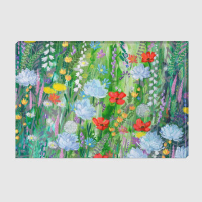 Холст Картина Летняя поляна