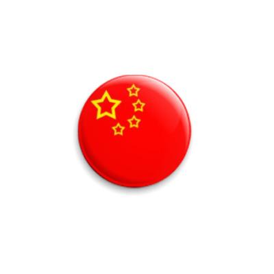 Значок 25мм флаг Китая