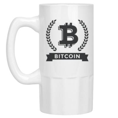 Пивная кружка Bitcoin - Биткоин