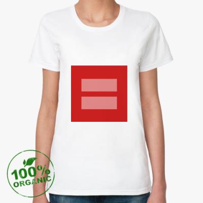 Женская футболка из органик-хлопка Marriage equality [LGBT]
