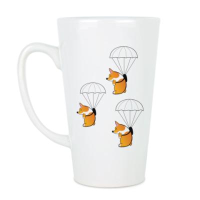 Чашка Латте смешные собаки корги