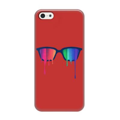 Чехол для iPhone 5/5s Хипстер: очки