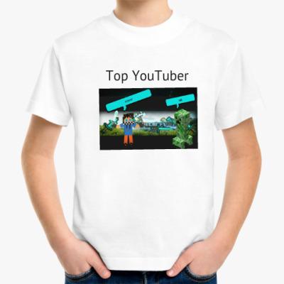 Детская футболка Скин майнкрафт Фэзера