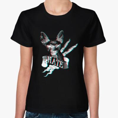 Женская футболка Кот сфинкс