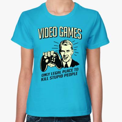 Женская футболка Video Games