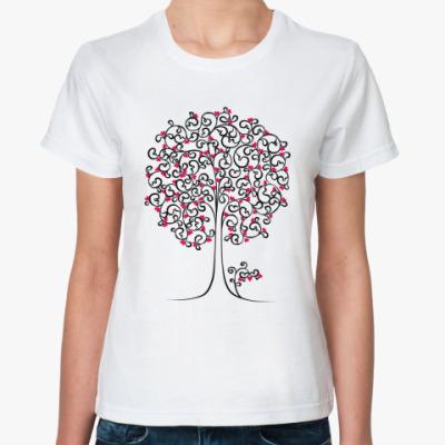 Классическая футболка  Heart Tree