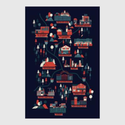Постер Карта сериала Ходячие мертвецы