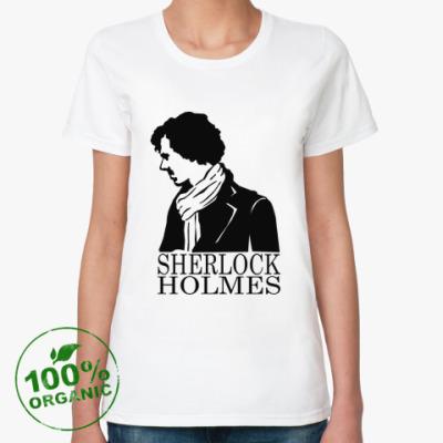 Женская футболка из органик-хлопка Шерлок Холмс