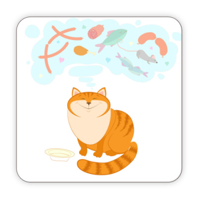 Костер (подставка под кружку) Кошачьи мечты