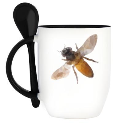 Кружка с ложкой Пчела / Bee