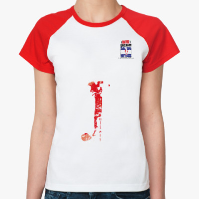Женская футболка реглан Морской флаг «Juliett»